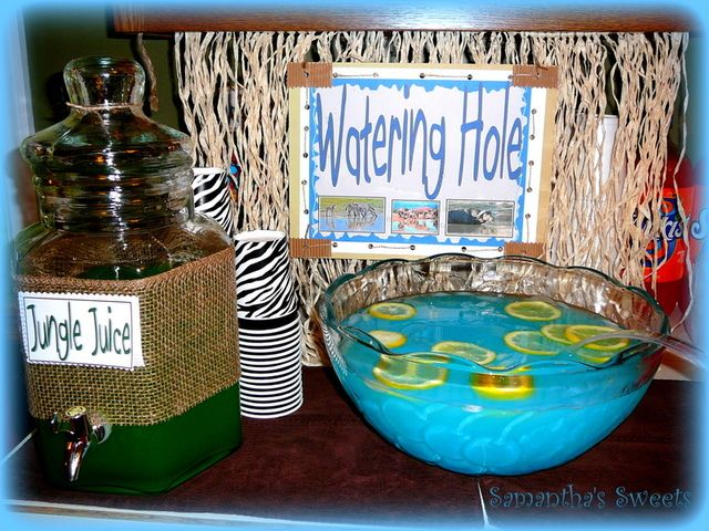 An African Safari Theme: the watering hole
