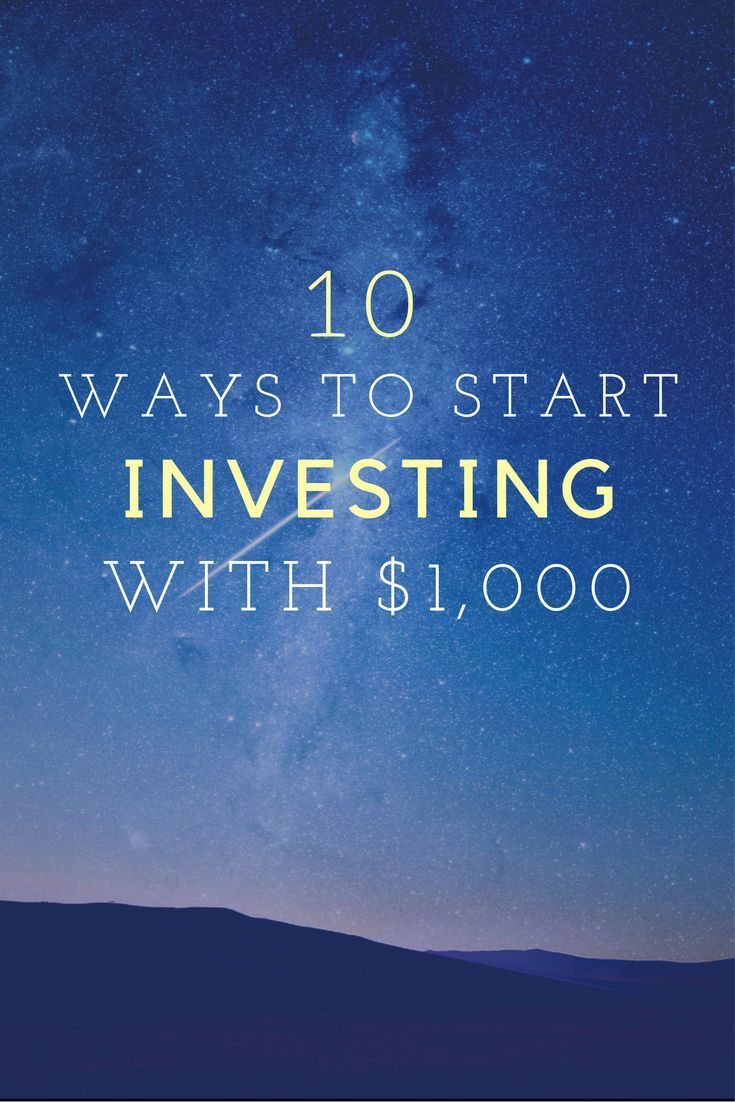Here are 10 different ways to start investing with just $1,000, including investing in stock, bonds, ETFs, mutual funds, and real estate.