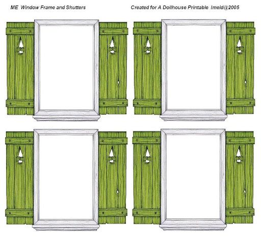 17 Best Images About Dolls House Printables Doors