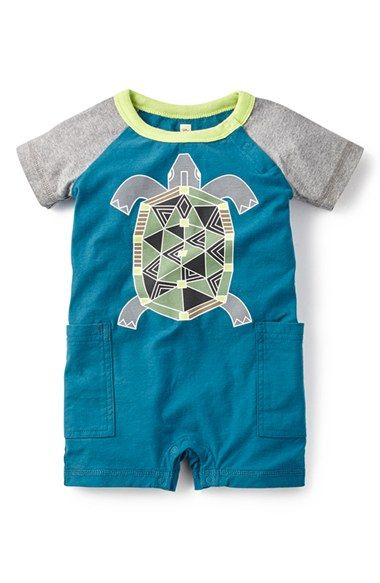 Tea+Collection+'Mithila'+Turtle+Graphic+Romper+(Baby+Boys)+available+at+#Nordstrom