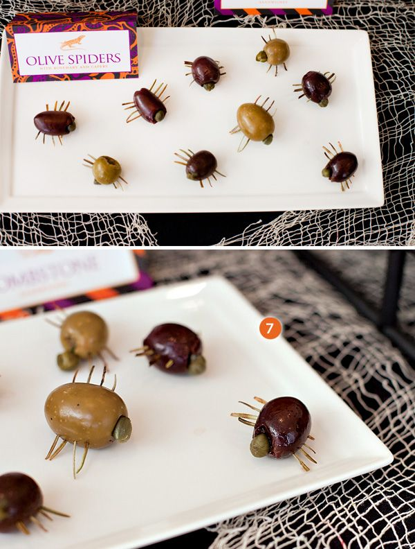 Divertidos snacks para una fiesta Halloween! / Fun snacks for a Halloween party!