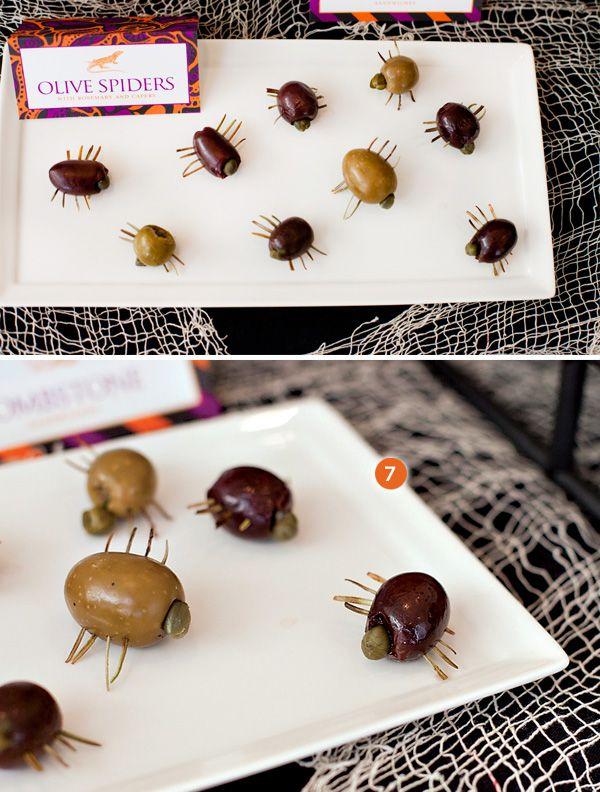 Divertidos snacks para una fiesta Halloween! / Fun snacks for a Halloween party!