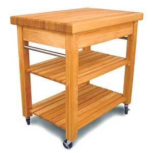 French-Small-Butcher-Block-Kitchen-Cart-with-adjustable-shelves