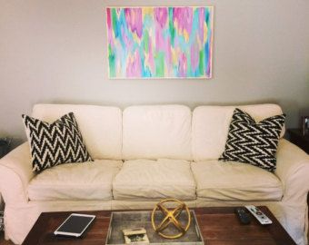 LARGE Original Abstract Painting chevron gold by HOUSEARTGALLERY