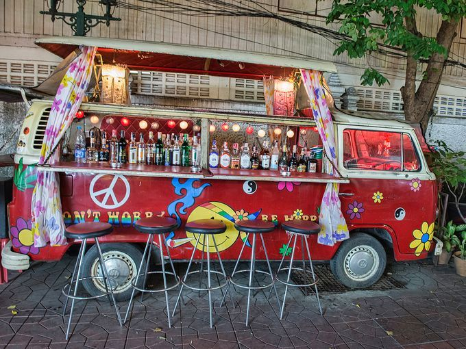In Bangkok, brick and mortar bars are making way for a new nightlife trend - mobile bars on wheels ~ Photo by...Dave Stamboulis© Photo 2of2