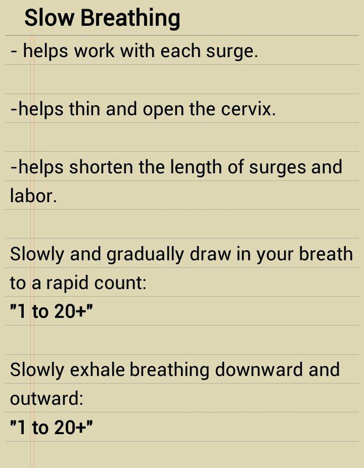 Hypnobirthing Breathing Technique: Slow Breathing