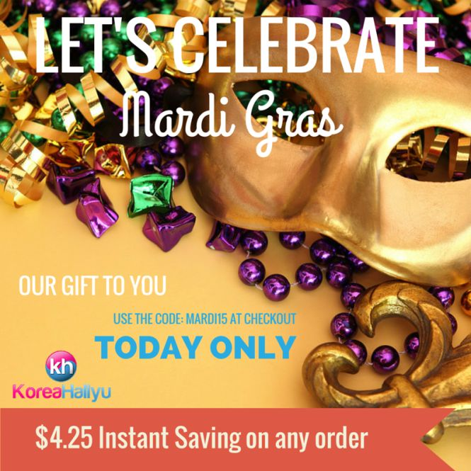 We're celebrating Mardi Gras by giving you $4.25! It's your opportunity to get a fantastic phone case, no matter what your needs are. But hurry, this deal ends 2/18 at 11:59pm KST. http://koreahallyu.asia/