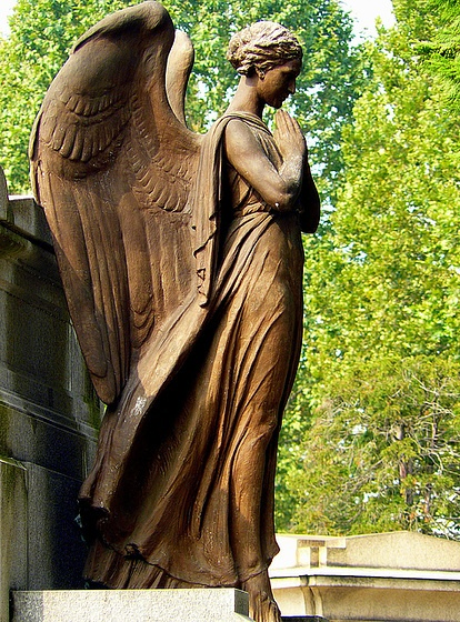"""In the cemetery of Turin, the angels are legions…. (I """"processed"""" a bunch of angels for an art professor once)."""