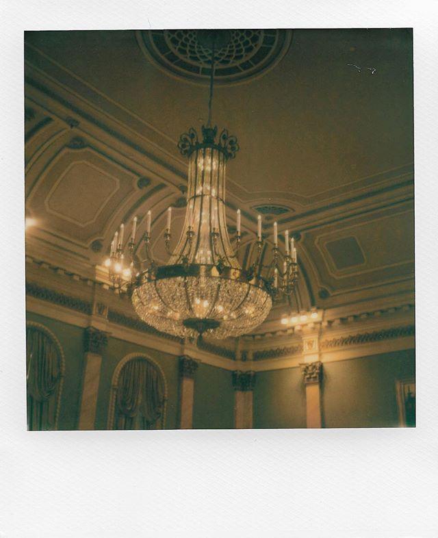 The chandelier inside the Governor Generals residence at @rideauhall. Shot using the Polaroid SX-70 camera and using @polaroidorignls film. . . . . . #polaroidoriginals #polaroid #instantfilm #filmisnotdead #photography #filmphotography #instantphotography #polaroid600 #film #instantphoto #ishootfilm #snapitseeit #vintage #shootfilm #believeinfilm #createoriginals #instagood #sx70 #2018 #ottawa #canada #gg #wintercelebration #liondance