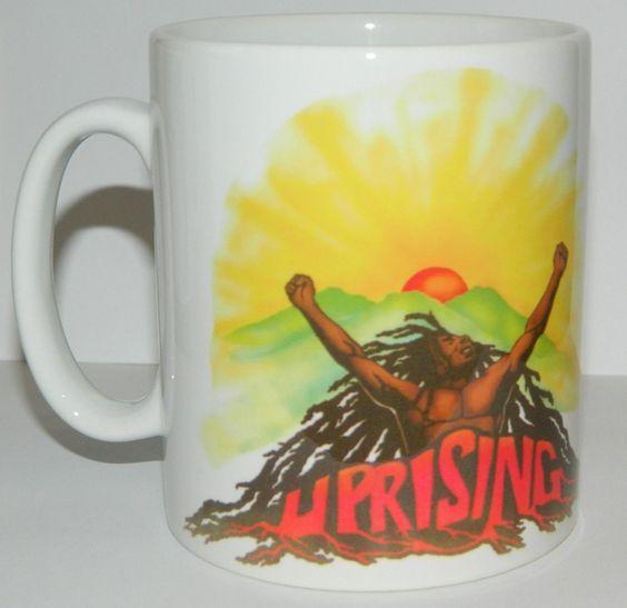 **Bob Marley** Crazy Mug. More fantastic cups & pots, pictures, music and videos of *Robert Nesta Marley* on: https://de.pinterest.com/ReggaeHeart/ http://www.ebay.co.uk/itm/BOB-MARLEY-THE-WAILERS-UPRISING-TOP-QUALITY-11oz-MUG-COLLECTABLE/252725380541?_trksid=p2047675.c100005.m1851&_trkparms=aid%3D222007%26algo%3DSIC.MBE%26ao%3D2%26asc%3D40860%26meid%3D2d099ad99ada46e08817e77bbaf70af7%26pid%3D100005%26rk%3D1%26rkt%3D2%26sd%3D252712332832