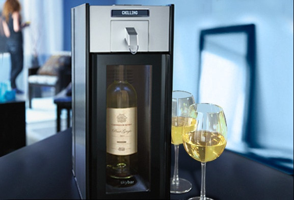 Never waste wine! Skybar wine system and accessories