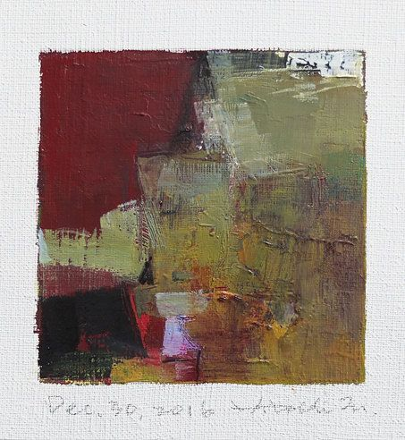 Dec. 30 2016  Original Abstract Oil Painting  by hiroshimatsumoto