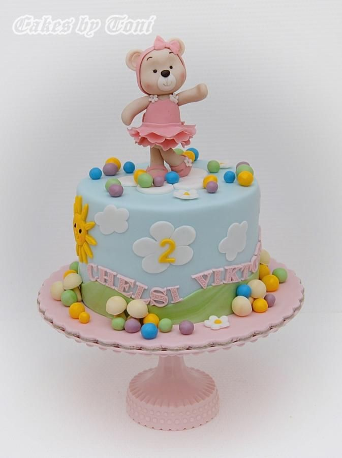 Sweet bear girl by Cakes by Toni