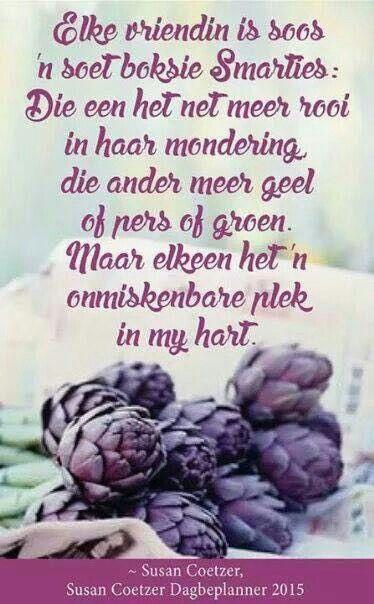 Vriendinne...soos Smarties #Afrikaans #Friends #Analogies