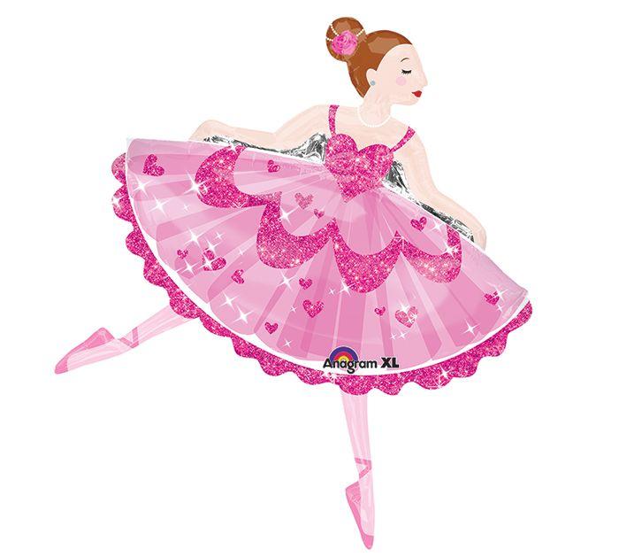 """Surprise a dancer with this 35"""" ballerina shape balloon!  #burtonandburton #balloons #ballet #dance"""