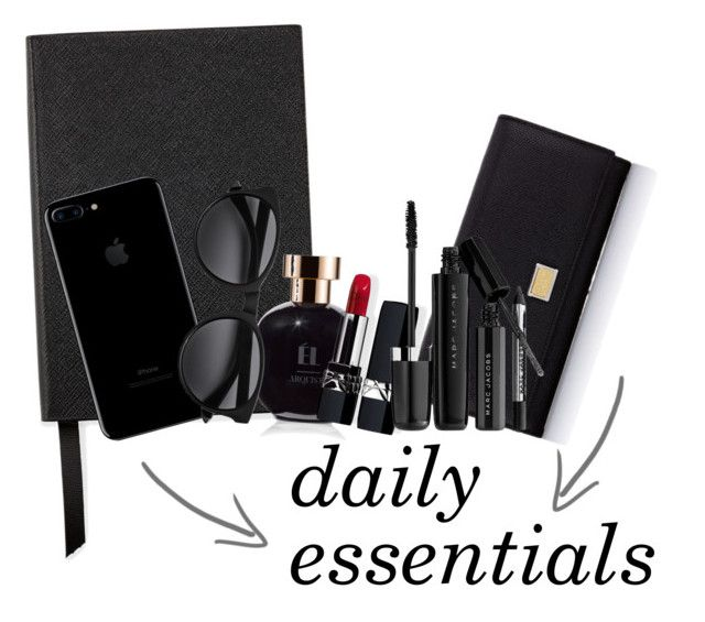 """#dailymila : daily essentials"" by jemila-mentari on Polyvore featuring Smythson, Arquiste Parfumeur, Dolce&Gabbana, Christian Dior and Marc Jacobs"