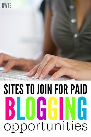 Are you looking for another way to monetize your blog? Here's a list of ten different sites you can join for paid blogging opportunities. #blogging Blogging