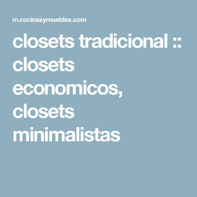 closets tradicional :: closets economicos, closets minimalistas