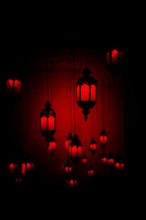 Beautiful for a bedroom!  Red lamps on skin are amazing!  Blood red lamps!