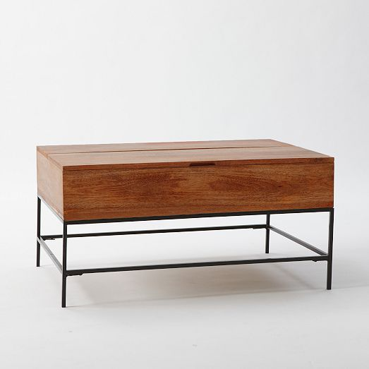 West Elm Rustic Storage Coffee Table Cafe