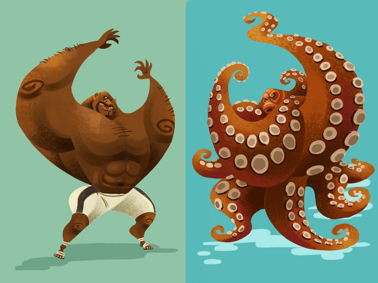 Bob Sapp was an Octopus by Kasidej Hempromaraj