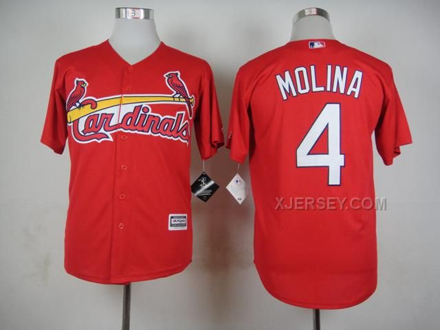 http://www.xjersey.com/cardinals-4-molina-red-new-cool-base-jersey.html CARDINALS 4 MOLINA RED NEW COOL BASE JERSEY Only $35.00 , Free Shipping!