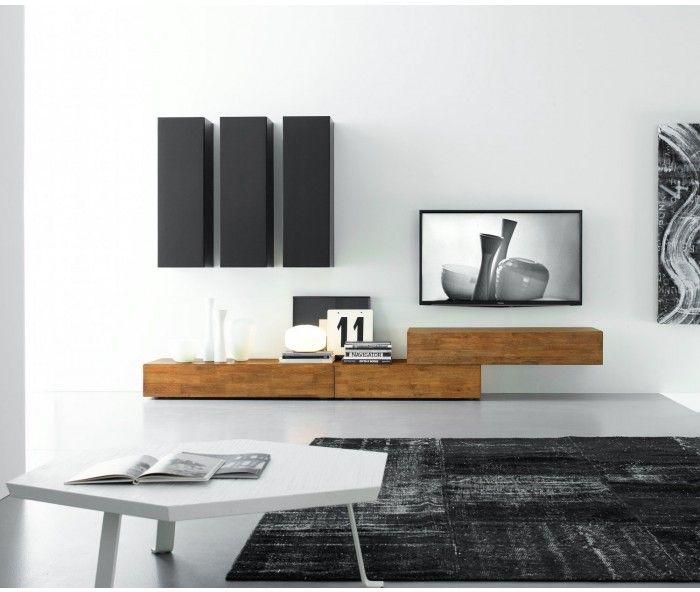 fgf mobili design wohnwand c14b - Stylische Wohnwand