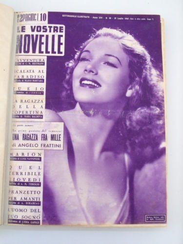 Fotoromanzi rilegati Le Vostre Novelle 1946 1947 Bergman Greene Bacall B. Davis in Collezionismo, Collezionismo cartaceo, Giornali e riviste d'epoca | eBay