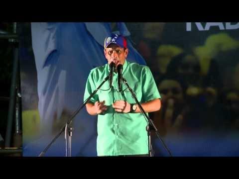 """""""Si hay algo que me quita el sueño es unir a Venezuela"""" Henrique Capriles Radonski presidente 2012"""