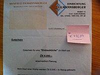 Unique Gutschein zeitlich unbegrenzt g ltig f r Einbauk che von Firma Eilmannsberger Ulrichsberg g nstig