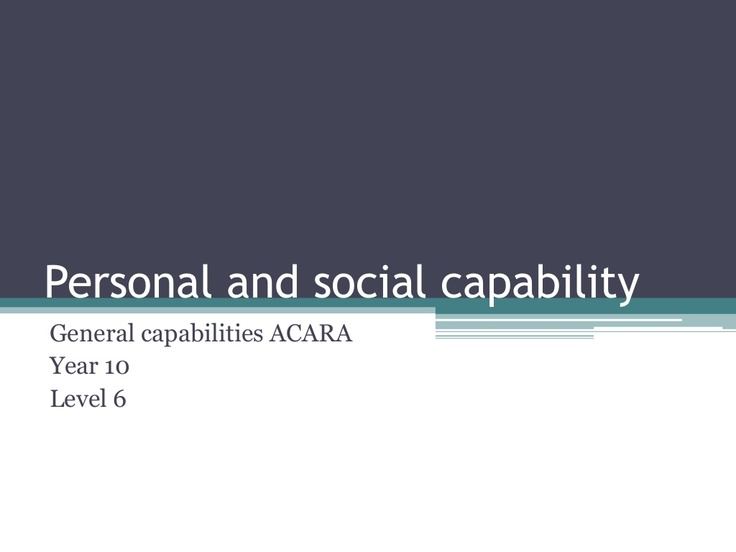 personal-and-social-capability-year10 by Cathy Woods via Slideshare