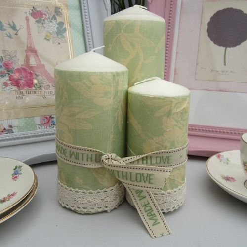 Product | Vintage Green Candle Set | Henry, Oscar and Me