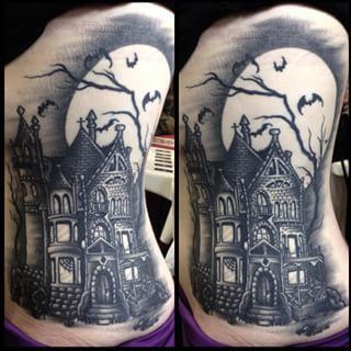 https://www.google.com/search?q=haunted house tattoo