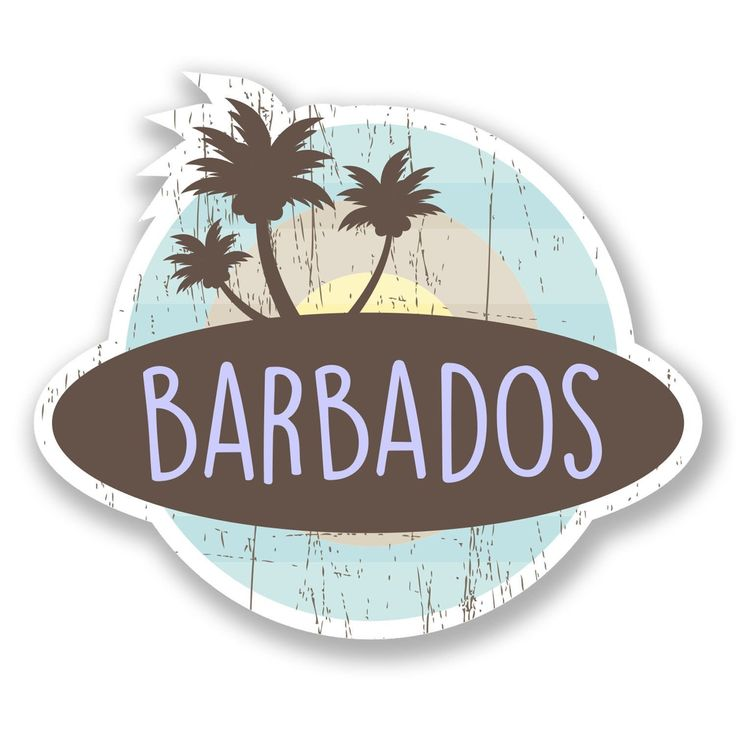 Show your love for Barbados and keep the island in your thoughts with these Barbados vinyl stickers
