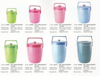 Selatan Jaya distributor barang plastik Surabaya: Rice / Ice Bucket plastik 26 liter USA kode B I 01...