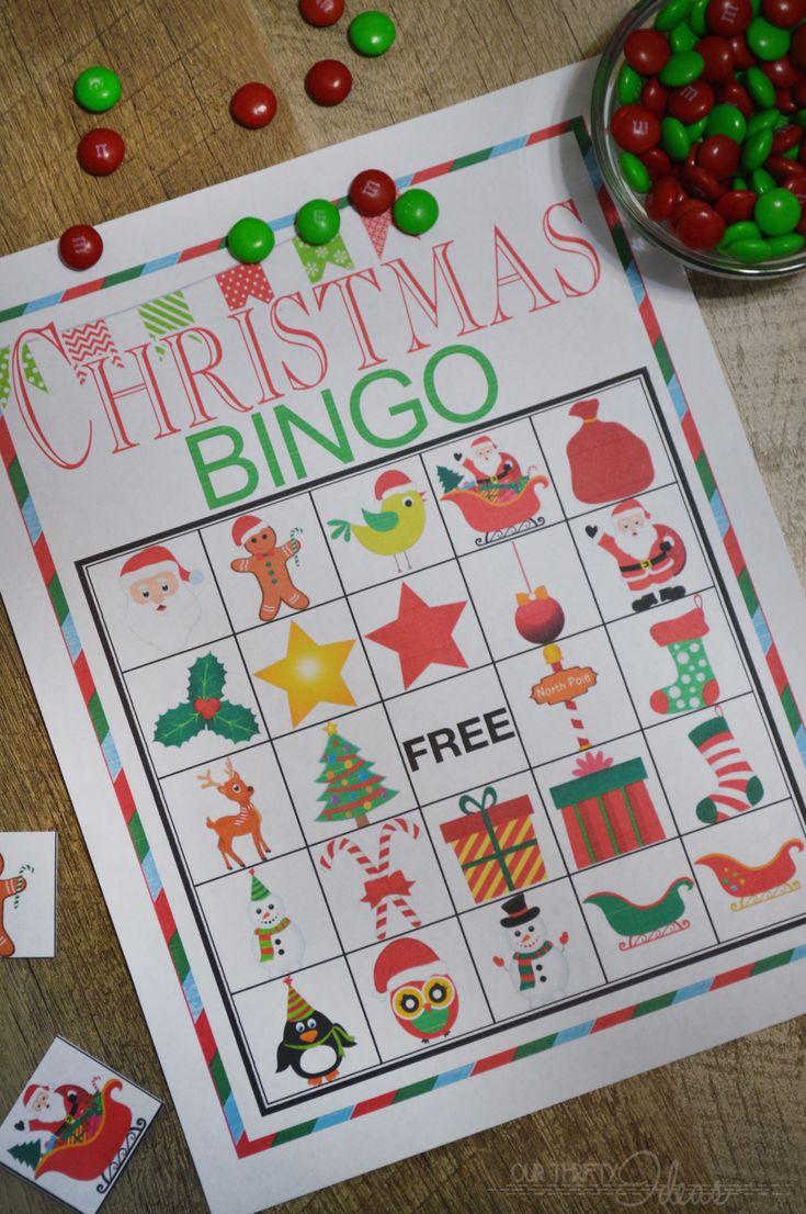 Christmas BINGO printable game - Design Dazzle