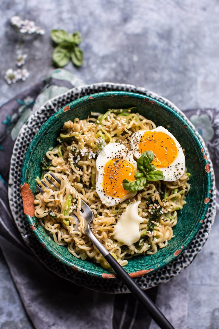15 Minute Garlic Butter Ramen Noodles - Delicious healthier noodles in less than 15 minutes! From halfbakedharvest.com