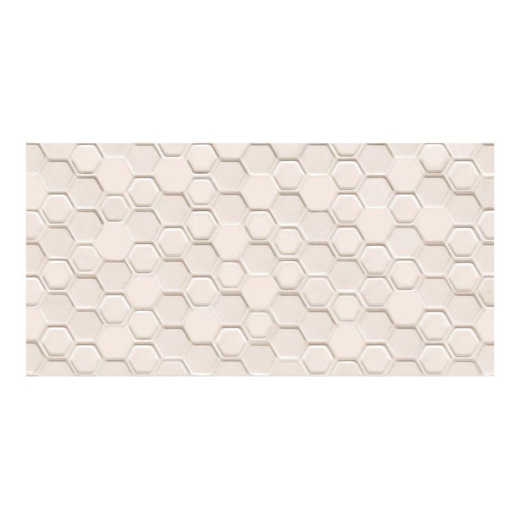 Płytka ścienna do wewnątrz pomieszczeń • Idealna do łazienki lub kuchni ✓ Arte Glazura Blanca hex struktura 29,8 cm x 59,8 cm ➜ Płytki ścienne kupić