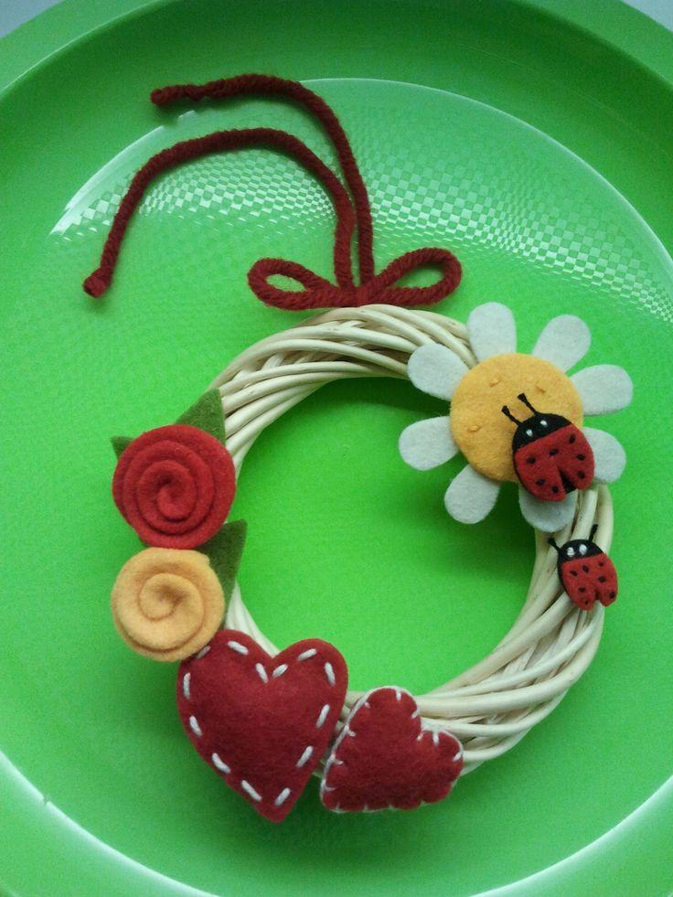 Ghirlanda Coccinella Spring  *Le Chips di Feltro* - Garland Felt Ladybug Spring