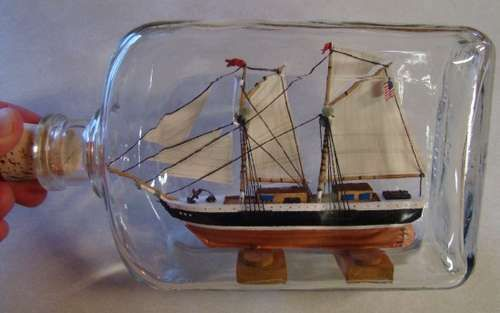How to Build a Ship in a Bottle by goaly #Model_Ship #Ship_in_a_Bottle #goaly
