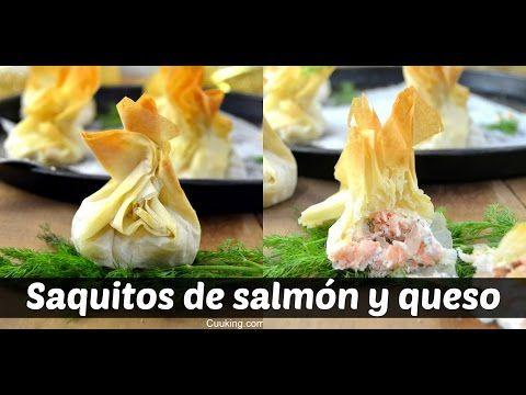 Saquitos de philo con salmón y Philadelphia | Cuuking! Recetas de cocina