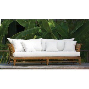 Oasiq Limited Teak Patio Daybed With Cushions Wayfair In 2020 Meubilair Houten Meubilair Houten