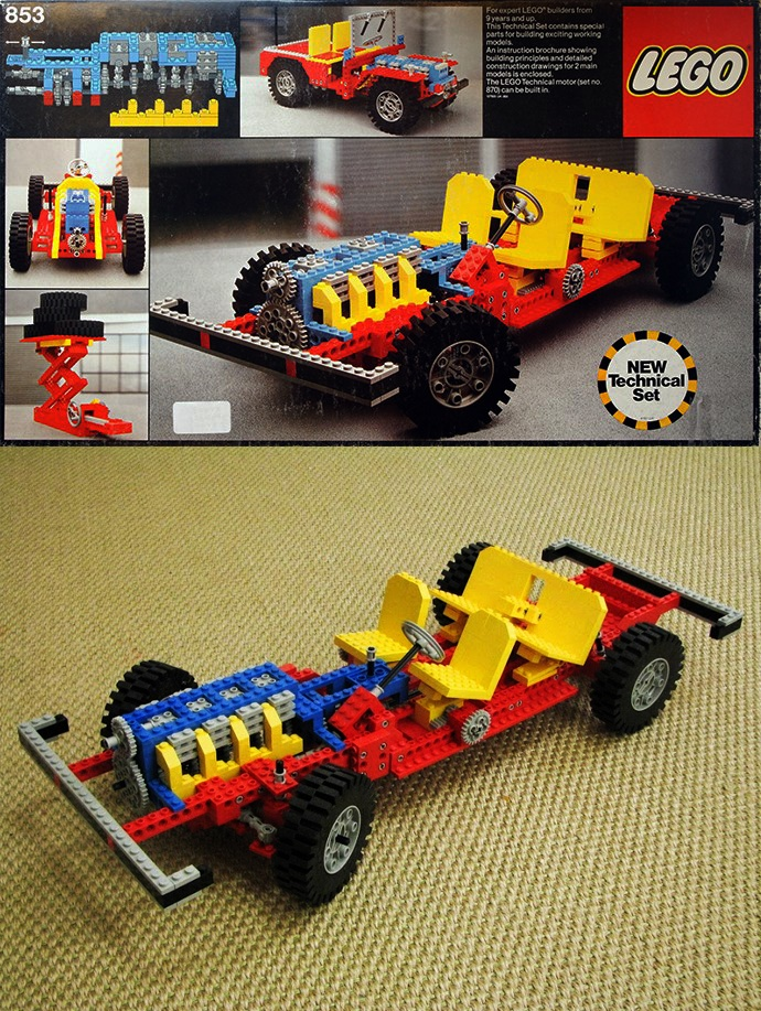 Set 853 / 956 Car Chassis - Lego Technic (1977) best toy I ever bought!!!