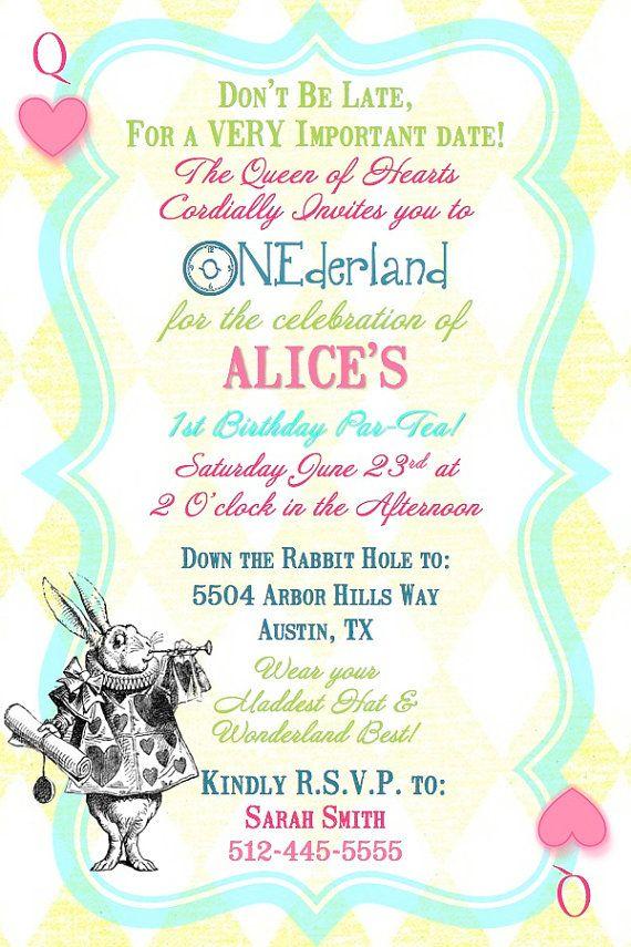 alice in wonderland queen of hearts 1st birthday tea party