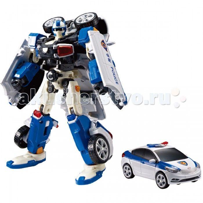 Tobot Робот-трансформер C - Полиция  Tobot Робот-трансформер C - Полиция понравится мальчикам, которые обожают играть в полицейских.   Трансформер представлен реалистичной полицейской машинкой с знаками отличия на корпусе и проблесковыми маячками, которую можно катать руками, разыгрывая увлекательные сюжеты из популярного мультсериала «Тобот». С помощью несложных манипуляций автомобиль можно трансформировать в робота – стража порядка и обратно.  Особенности: Замечательная игрушка выполнена…