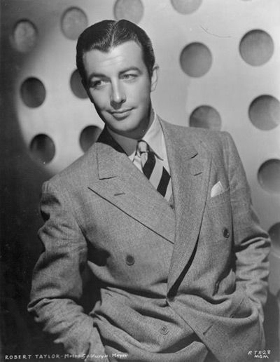 Dashing leading man American film and TV actor Robert Taylor was born today 8-5 in 1911. He began working in film for MGM in 1934 - he passed of lung cancer in 1968.