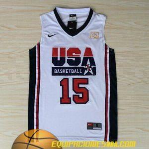 Nike Camiseta 1992 USA Anthony #15 blanco nueva pano