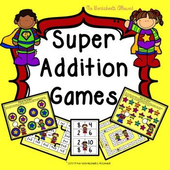 Kindergarten addition games: addition within 5, addition within 10 and doubling.