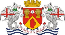 Londonderry (historical county in Northern Ireland), coat of arms (1951) - vector image