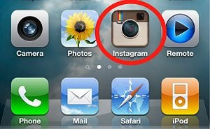 Launch the Instagram app by tapping its icon from your device's home screen.
